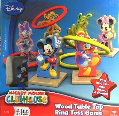 Amazon.com: Mickey Mouse Clubhouse Wood Table Top Ring Toss Game: Toys & Games