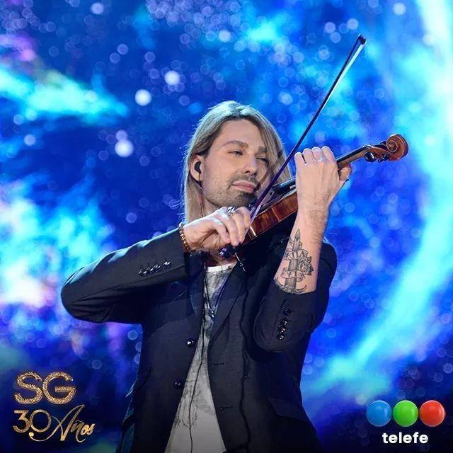 "David Garrett, Argentina 20.11.2017.  ""With is new tatoo in view"""