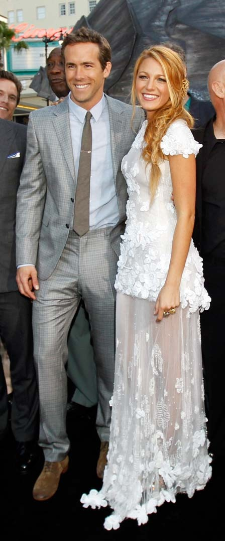 Ryan Reynolds & wife Blake Lively in Marchesa