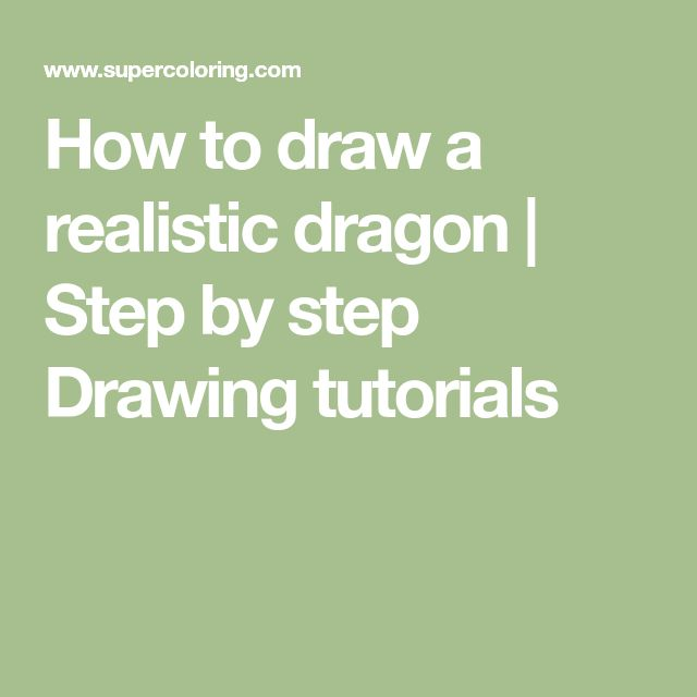 How to draw a realistic dragon | Step by step Drawing tutorials