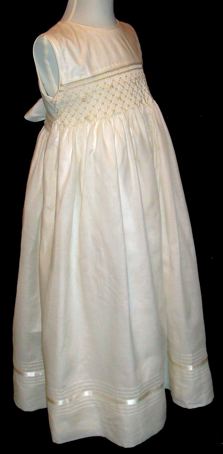 flower girl smocked dresses | Hand Smocked - Flower Girl Dress - Rocio