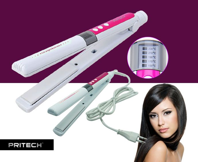 مكواة الشعر السيراميك ديجيتال Pritech لشعر لامع وقوى Ne06 وللتواصل Beauty Cosmetics Beauty Health Beauty