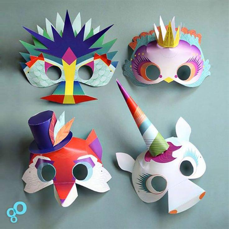 Mettez vos masques pour le CARNAVAL !!  Retrouvez toute une série de masques drôles et loufoques à fabriquer en famille sur notre page Pinterest JUSTE ICI ►https://fr.pinterest.com/tooshortcom/pour-les-petites-mains/  #vêtement #enfant #échanges #occasion #fashion #kids