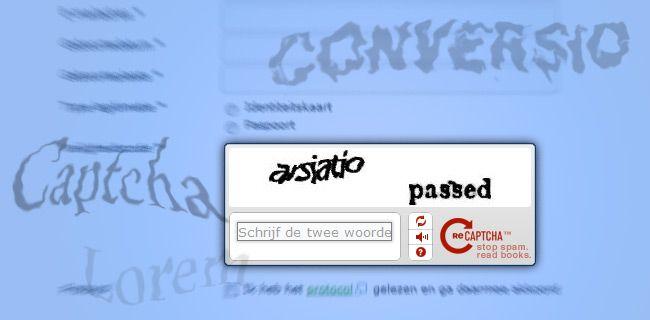 #captcha in #formulieren om Spam te verminderen of voorkomen.