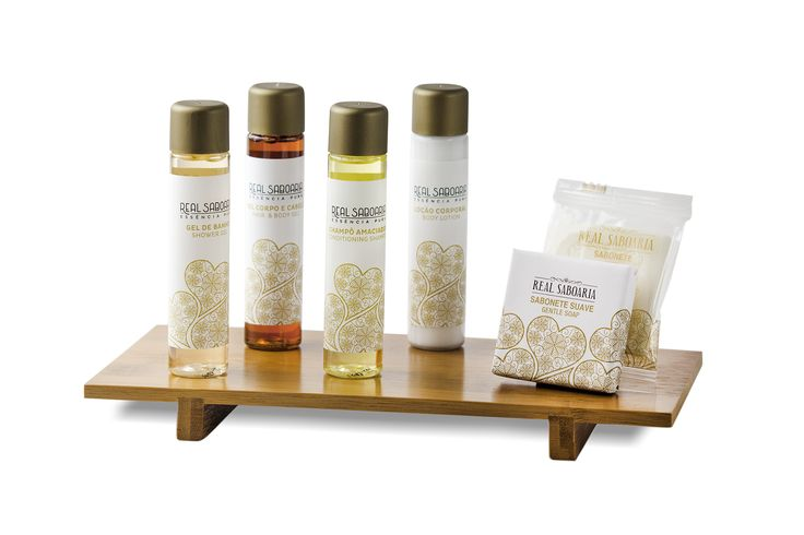 FILIGRANA, Real Saboaria amenities line available for hotels, 30ml bottles + 15 and 20g soaps