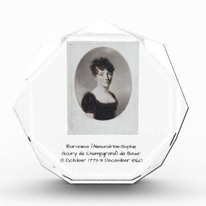 #vintage - #Alexandrine Sophie Goury de Champgrand de Bawr Acrylic Award