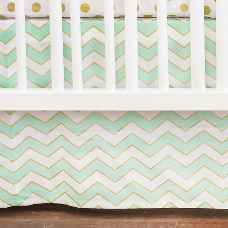 mint green chevron crib skirt: Bellini Baby and Teen Furniture   Designer Cribs, Kids Furniture Stores