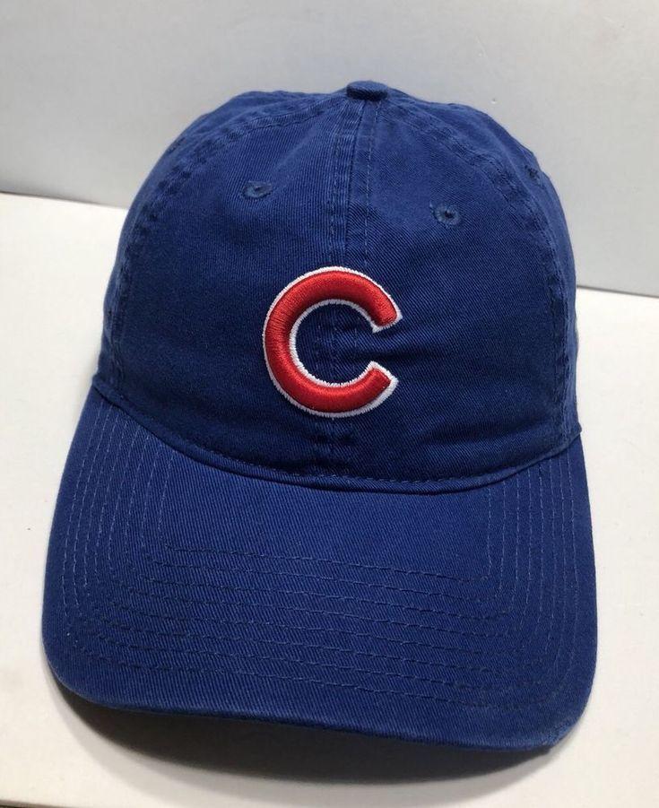 a88e070baf3 MLB Chicago Cubs Cap Hat Adjustable Adult New Era 100% Cotton ...