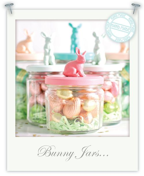 Bunny jarsHoliday, Bunnies Jars, Baby Food, Decor Ideas, Gift Ideas, Easter Crafts, Easter Gift, Diy, Easter Ideas