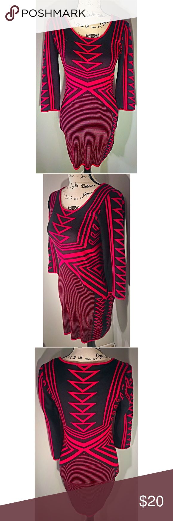 ❤️Sexy Tribal Sweater Dress | Size Large ❤️ Beautiful like 🆕 tribal print sweater dress. Brand: Derek Heart ❤️Size Large. This dress is super soft and sexy!  Make this ☝🏾️treasure yours today ☺️. Don't be scared  to make an offer, you never know unless you try. Bundle multiple items for the best savings. Pay one low price for shipping 🎁! Thanks for stepping into my closet  😘 Derek Heart Dresses
