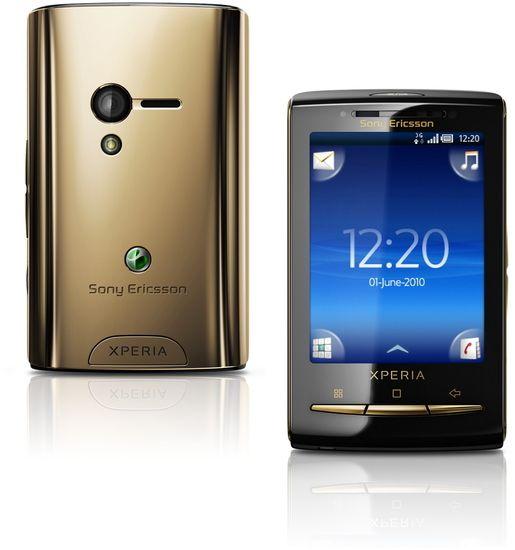 Sony Ericsson XPERIA X10 mini, gold