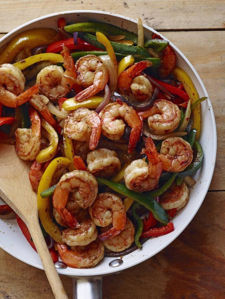 Poblano Shrimp Fajitas from www.whatsgabycooking.com (@whatsgabycookin)