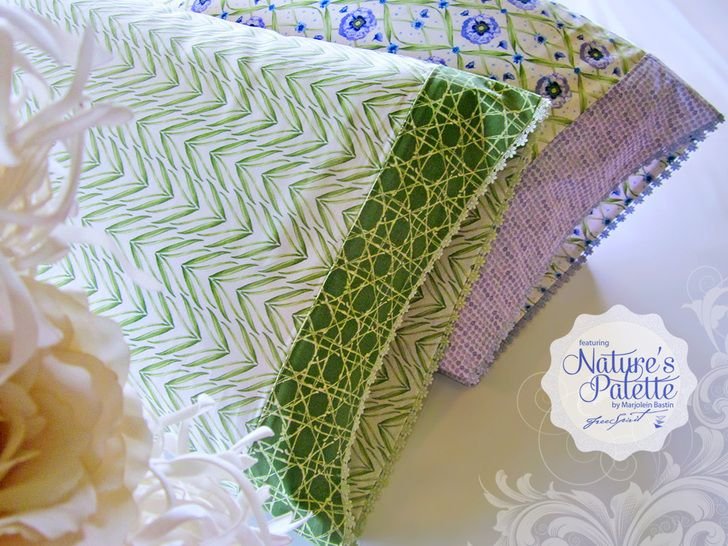Nature\u0027s Palette by Marjolein Bastin for FreeSpirit: Lace Edged Pillowcases | Sew4Home #tutorial & 20 best How to Make a Pillowcase images on Pinterest | Pillowcase ... pillowsntoast.com