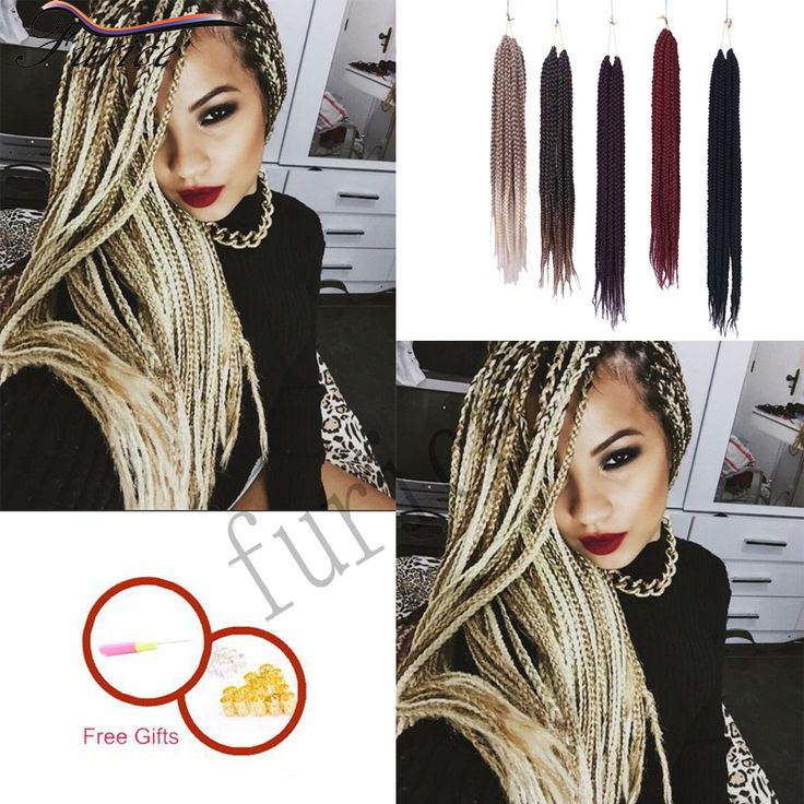 Crochet Latch Hook Braiding Hair 18in Synthetic 3X Box Braids Crochet ...
