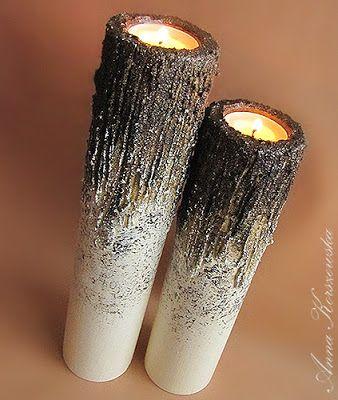 Świeczniki Tree Bark II