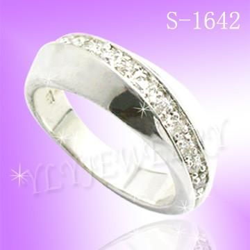 925 STERLING SILVER CZ SIMPLE RING S1642