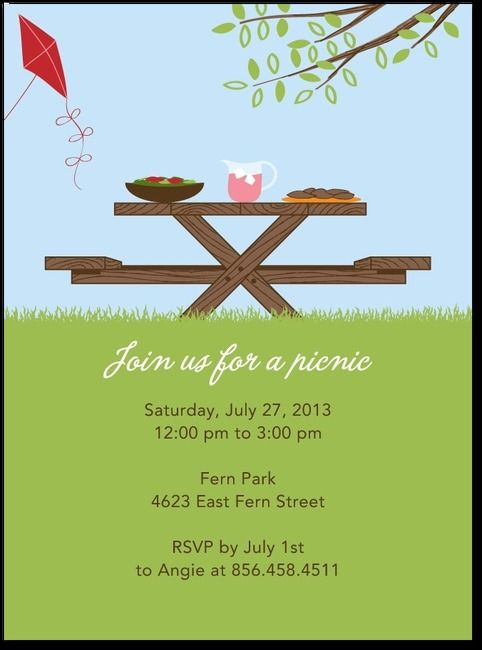 8 Best Picnic Ideas Images On Pinterest | Picnic Invitations