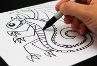 Art for Kids - How To Draw A Dragon (AND so much more!): Art Lessons, Art Drawing, Art Class, Art Crafts Drawings Journaling, Art Ideas, Dragon, Kids Art, How To Draw, Art For Kids