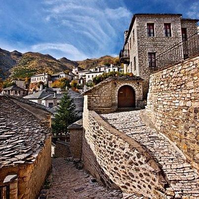 Syrrako village, Tzoumerka, Ioannina, Epirus; Greece