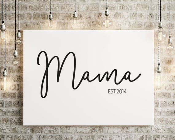 Personalised Mama Print, Mother's Day Print, Gift for Mum, A4/A3, Monochrome, Mama Established, New Mum Gift