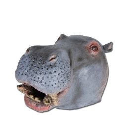 OVERHEAD RUBBER HIPPO MASK - £9.78 superior (In my opinion) to the horse masks you see everywhere