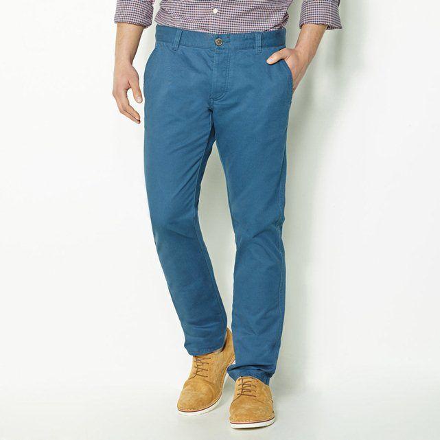 Pantalón chino, largo. 34, hombre