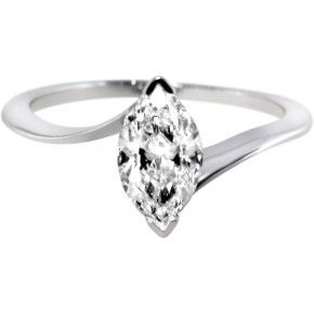 White gold marquise cut diamond engagement ring.  Unusual engagement rings by Ingle and Rhode