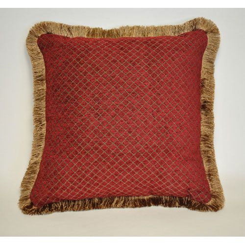 austin horn classics verona red 18 inch chenille square pillow pacific coast home furnishi