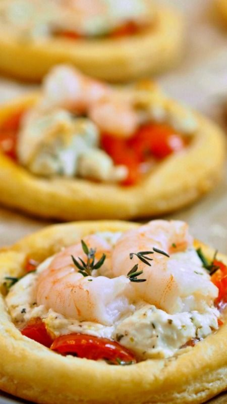 Shrimp and Goat Cheese Tarts