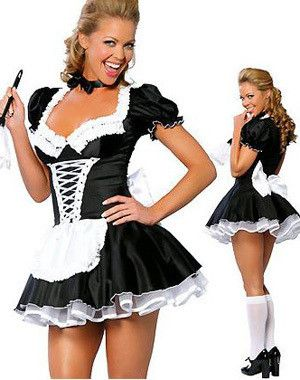 Now available on our store;  French Maid Dress    http://www.shapedboutique.com/products/servant-women-cosplay-free-shipping-black-and-white-party-halloween-fancy-dress-ml5034-short-sleeve-sexy-french-maid-costumes?utm_campaign=social_autopilot&utm_source=pin&utm_medium=pin  #ShapedDressBoutique  www.shapeddreddboutique.com