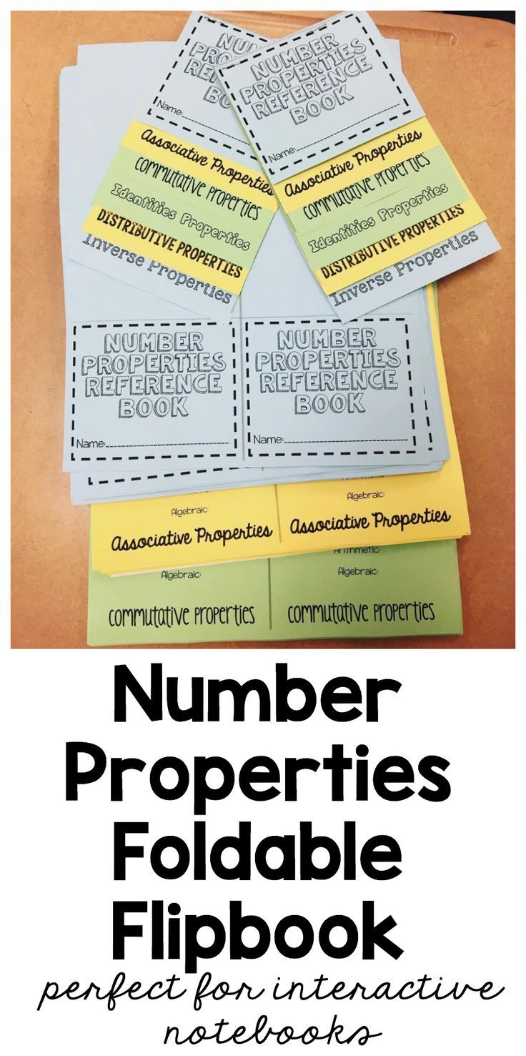 worksheet Working With The Properties Of Mathematics best 25 number properties ideas on pinterest vocabulary foldable for interactive math notebooks