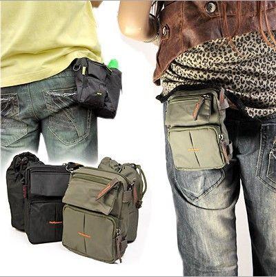 New women men's waist bags Leisure Camera/Mobile phone outdoor Nylon Portable Messenger Bag Men Sports packs