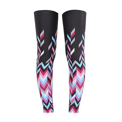 3Pairs Women's Cycling Bike Bicycle Leg Warmer Guard Knee Sunsreen Protect Pink