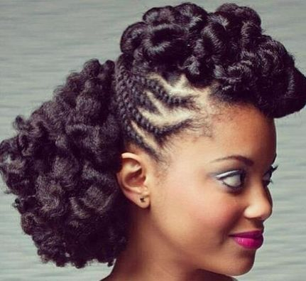 Stupendous 1000 Images About Long Natural Hairstyles On Pinterest Updo Hairstyle Inspiration Daily Dogsangcom