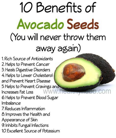 10 Health Benefits of Avocado Seeds (don't throw them away) #organic #food #nutrition