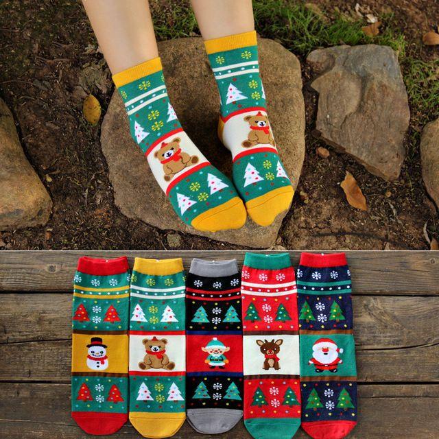 2015 3D животные стиль милый мультфильм рождественская носки в трубке носки новые серии рождество леди и женщины хлопок носки