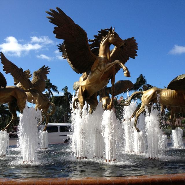 Fountains at Atlantis Hotel ~ Nassau, Bahamas.