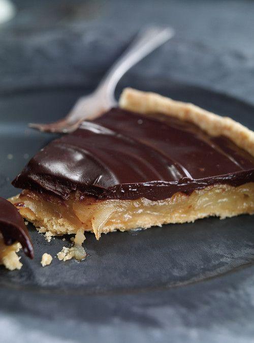 Tarte aux poires caramélisées et au chocolat Recettes | Ricardo - Chantal Beauparlant