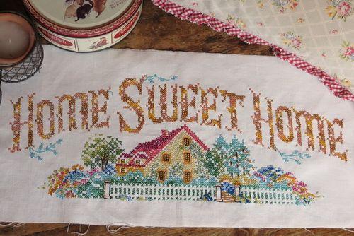 home sweet home cross stitch | Home Sweet Home' cross ...