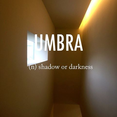 umbra |ˈʌmbrə| late 16th century origin (denoting a phantom or ghost): from Latin, literally 'shade'#beautifulwords #wordoftheday #HyundaiCardDesignLibrary #architecture #design #Seoul