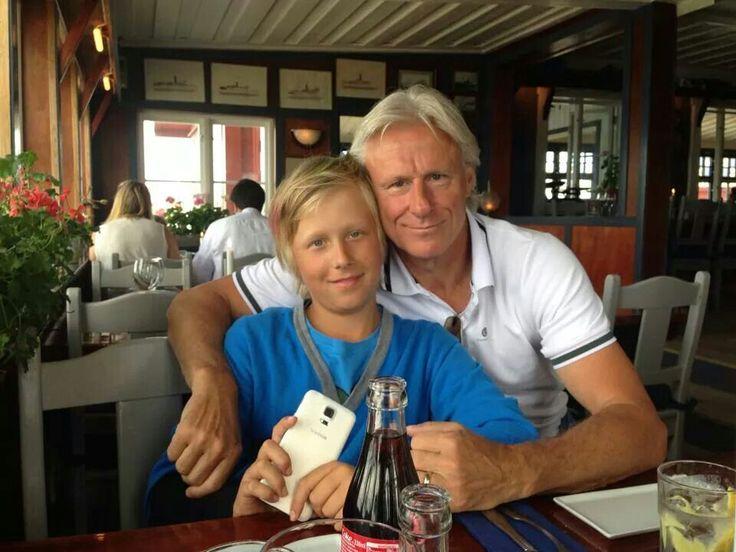 Bjorn with his son Leo...