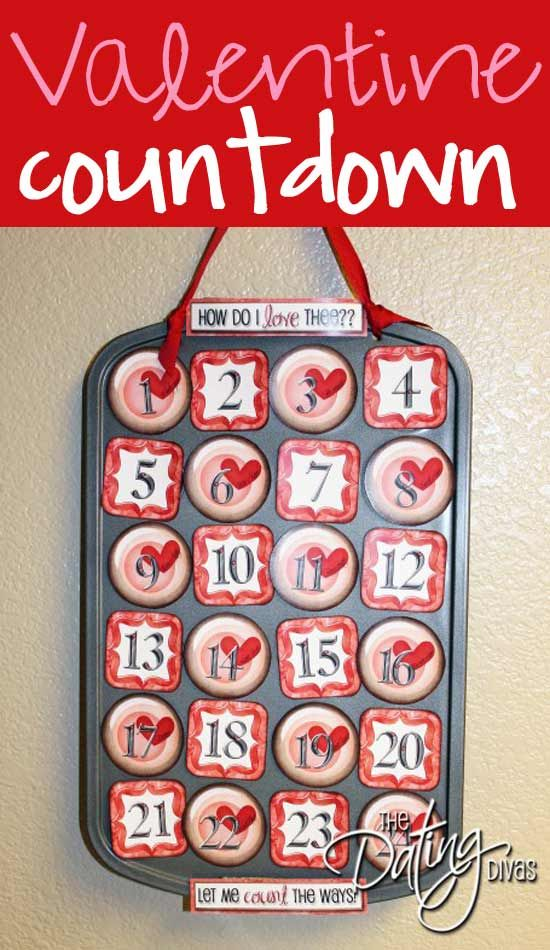 Check out this crafty tutorial for a fun & unique way to show your spouse some love.  FREE Printables included.  www.TheDatingDivas.com #DIY  #Valentines #Vday
