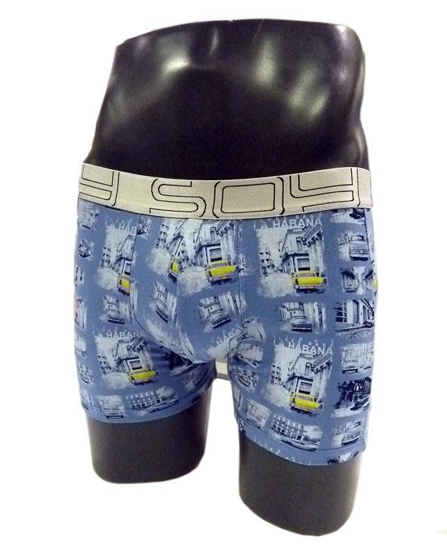 Ropa interior de hombre INFORMAL, en algodón elastizado. Vivos colores. Estampación de diferentes automoviles VINTAGE EN LA HABANA de Soy Underwear.