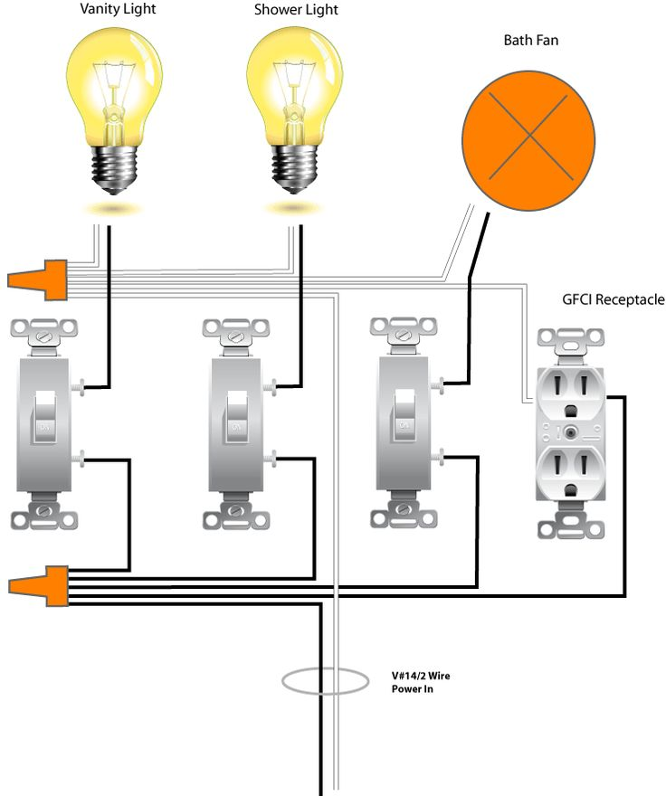 bathroom exhaust fan light wiring diagram com fans and bath