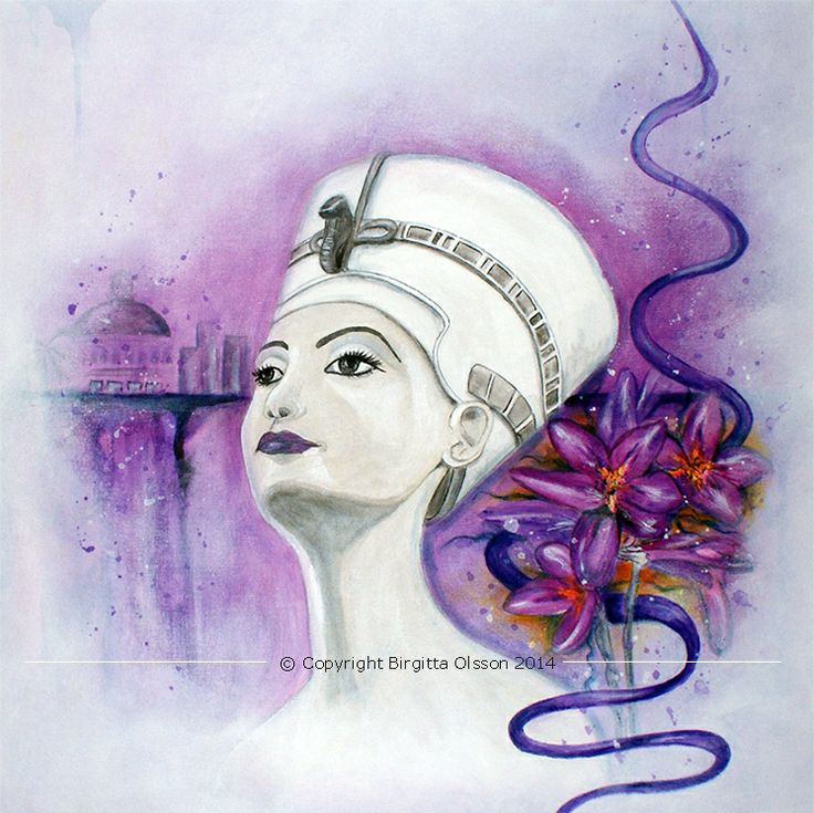 Min tolkning av Nefertiti.