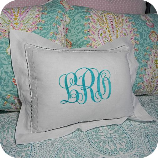 Crisp white linen and sweet Swiss dots!  Gorgeous pillow just waiting for you to monogram or embellish with something special!