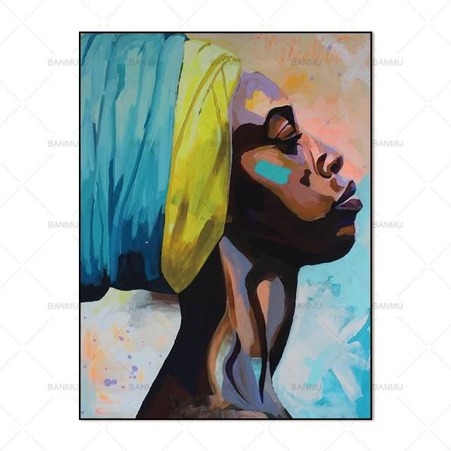 Picture wall art portrait home decor abstract afri…