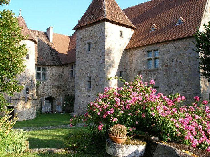 Chateau de Chantemille AHUN Creuse France, castle of chantemille town AHUN Creuse France