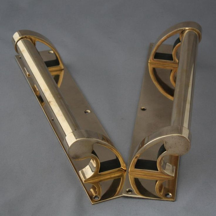 Art Deco Door Hardware For Sale Pair Rose Brass Art