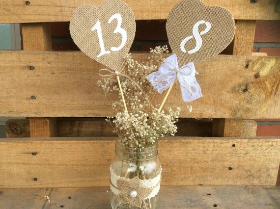 Hey, I found this really awesome Etsy listing at https://www.etsy.com/listing/242897806/rustic-table-numbers-burlap-wedding